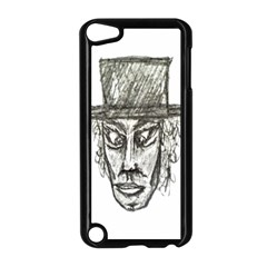 Man With Hat Head Pencil Drawing Illustration Apple iPod Touch 5 Case (Black)