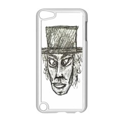 Man With Hat Head Pencil Drawing Illustration Apple iPod Touch 5 Case (White)