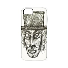 Man With Hat Head Pencil Drawing Illustration Apple iPhone 5 Classic Hardshell Case (PC+Silicone)