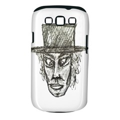 Man With Hat Head Pencil Drawing Illustration Samsung Galaxy S III Classic Hardshell Case (PC+Silicone)
