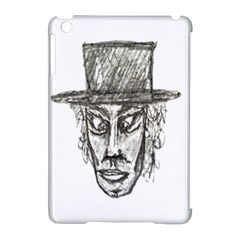Man With Hat Head Pencil Drawing Illustration Apple iPad Mini Hardshell Case (Compatible with Smart Cover)
