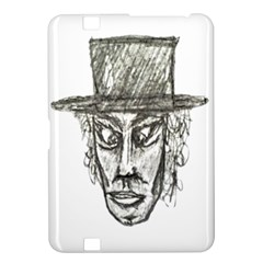 Man With Hat Head Pencil Drawing Illustration Kindle Fire HD 8.9