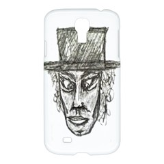 Man With Hat Head Pencil Drawing Illustration Samsung Galaxy S4 I9500/I9505 Hardshell Case
