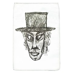 Man With Hat Head Pencil Drawing Illustration Flap Covers (L)