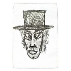 Man With Hat Head Pencil Drawing Illustration Flap Covers (S)