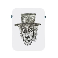 Man With Hat Head Pencil Drawing Illustration Apple iPad 2/3/4 Protective Soft Cases