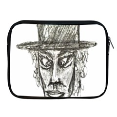 Man With Hat Head Pencil Drawing Illustration Apple iPad 2/3/4 Zipper Cases