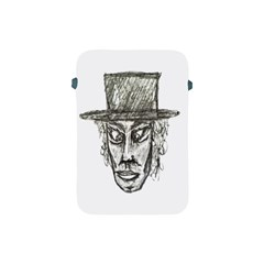 Man With Hat Head Pencil Drawing Illustration Apple iPad Mini Protective Soft Cases