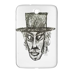 Man With Hat Head Pencil Drawing Illustration Samsung Galaxy Note 8.0 N5100 Hardshell Case