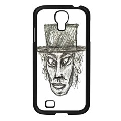 Man With Hat Head Pencil Drawing Illustration Samsung Galaxy S4 I9500/ I9505 Case (Black)