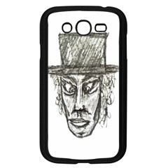 Man With Hat Head Pencil Drawing Illustration Samsung Galaxy Grand DUOS I9082 Case (Black)