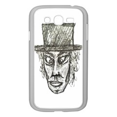 Man With Hat Head Pencil Drawing Illustration Samsung Galaxy Grand DUOS I9082 Case (White)
