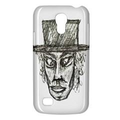Man With Hat Head Pencil Drawing Illustration Galaxy S4 Mini
