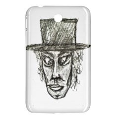 Man With Hat Head Pencil Drawing Illustration Samsung Galaxy Tab 3 (7 ) P3200 Hardshell Case