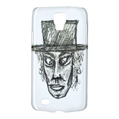 Man With Hat Head Pencil Drawing Illustration Galaxy S4 Active