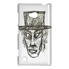 Man With Hat Head Pencil Drawing Illustration Nokia Lumia 720