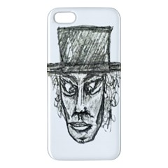 Man With Hat Head Pencil Drawing Illustration iPhone 5S/ SE Premium Hardshell Case