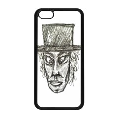 Man With Hat Head Pencil Drawing Illustration Apple iPhone 5C Seamless Case (Black)