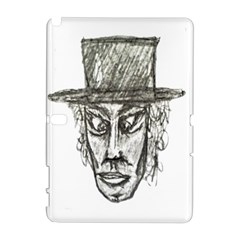 Man With Hat Head Pencil Drawing Illustration Galaxy Note 1