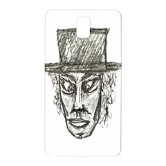 Man With Hat Head Pencil Drawing Illustration Samsung Galaxy Note 3 N9005 Hardshell Back Case