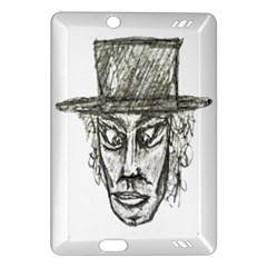 Man With Hat Head Pencil Drawing Illustration Amazon Kindle Fire HD (2013) Hardshell Case