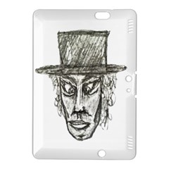 Man With Hat Head Pencil Drawing Illustration Kindle Fire HDX 8.9  Hardshell Case