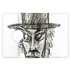 Man With Hat Head Pencil Drawing Illustration Kindle Fire HDX Flip 360 Case