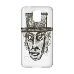 Man With Hat Head Pencil Drawing Illustration Samsung Galaxy S5 Hardshell Case
