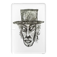 Man With Hat Head Pencil Drawing Illustration Samsung Galaxy Tab Pro 10.1 Hardshell Case