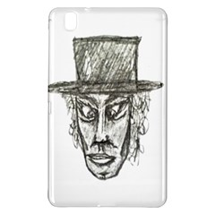 Man With Hat Head Pencil Drawing Illustration Samsung Galaxy Tab Pro 8.4 Hardshell Case