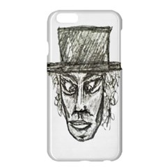 Man With Hat Head Pencil Drawing Illustration Apple iPhone 6 Plus/6S Plus Hardshell Case