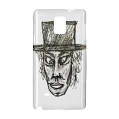 Man With Hat Head Pencil Drawing Illustration Samsung Galaxy Note 4 Hardshell Case