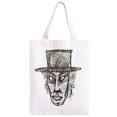 Man With Hat Head Pencil Drawing Illustration Classic Light Tote Bag