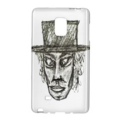 Man With Hat Head Pencil Drawing Illustration Galaxy Note Edge