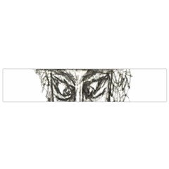 Man With Hat Head Pencil Drawing Illustration Flano Scarf (Small)
