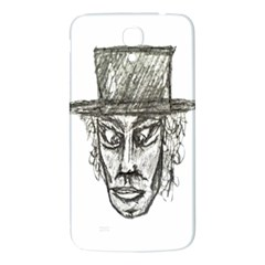 Man With Hat Head Pencil Drawing Illustration Samsung Galaxy Mega I9200 Hardshell Back Case