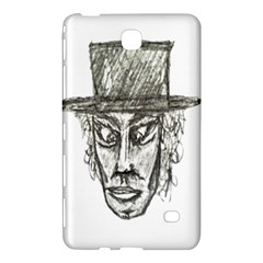 Man With Hat Head Pencil Drawing Illustration Samsung Galaxy Tab 4 (7 ) Hardshell Case