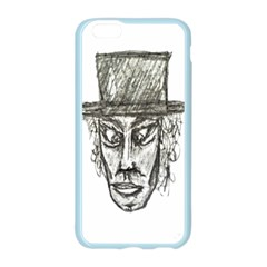 Man With Hat Head Pencil Drawing Illustration Apple Seamless iPhone 6/6S Case (Color)