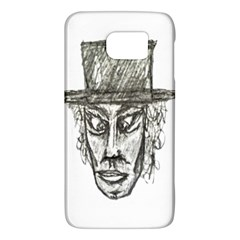 Man With Hat Head Pencil Drawing Illustration Galaxy S6