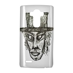 Man With Hat Head Pencil Drawing Illustration LG G4 Hardshell Case