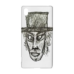 Man With Hat Head Pencil Drawing Illustration Sony Xperia Z3+