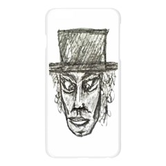 Man With Hat Head Pencil Drawing Illustration Apple Seamless iPhone 6 Plus/6S Plus Case (Transparent)