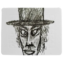 Man With Hat Head Pencil Drawing Illustration Jigsaw Puzzle Photo Stand (Rectangular)