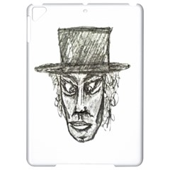 Man With Hat Head Pencil Drawing Illustration Apple Ipad Pro 9 7   Hardshell Case