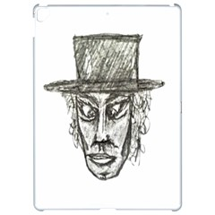 Man With Hat Head Pencil Drawing Illustration Apple iPad Pro 12.9   Hardshell Case