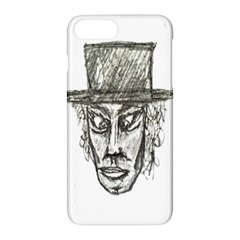 Man With Hat Head Pencil Drawing Illustration Apple iPhone 7 Plus Hardshell Case