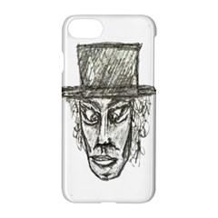 Man With Hat Head Pencil Drawing Illustration Apple iPhone 7 Hardshell Case