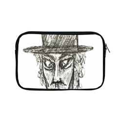 Man With Hat Head Pencil Drawing Illustration Apple MacBook Pro 13  Zipper Case