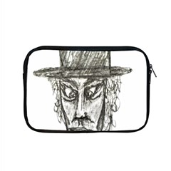 Man With Hat Head Pencil Drawing Illustration Apple MacBook Pro 15  Zipper Case