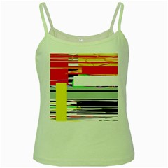 Lines and squares  Green Spaghetti Tank